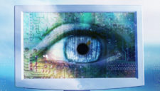 Eye on Flat Panel Monitor --- Image by © Royalty-Free/Corbis